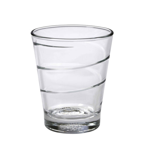 Duralex Spiral Tumbler 11.5 Ounces, Set of 6 Clear Drinking Glasses