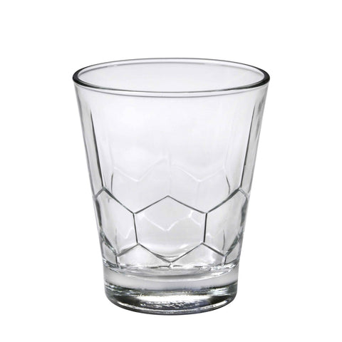 Image of Duralex Hexagon Tumbler 11.5 Ounces, Set of 6 Clear Drinking Glasses