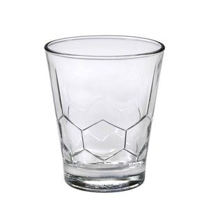 Duralex Hexagon Tumbler 11.5 Ounces, Set of 6 Clear Drinking Glasses
