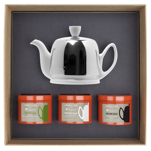 Guy Degrenne - Salam 2 cup Teapot with 3 Tea Tasting Boxes