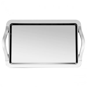 Guy Degrenne - Newport Serving Tray with Handles, Stainless Steel, 60X40 cm.