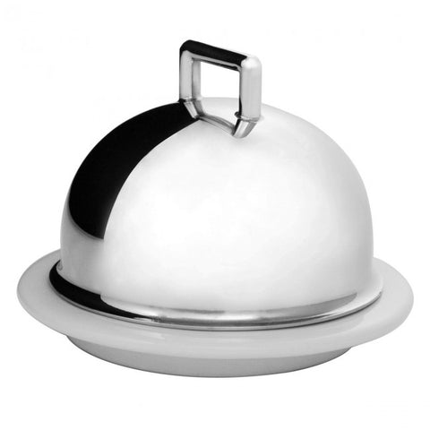 Guy Degrenne - Newport Individual Butter Dish, Stainless Steel