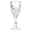 Ashford Non-Leaded Crystal, Gold Rimmed Wine Glasses 10 Ounces, Set of 4