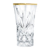 Ashford Non-Leaded Crystal Clear Liquor Shot Glasses with a Gold Rim 2 Ounces, Set of 4