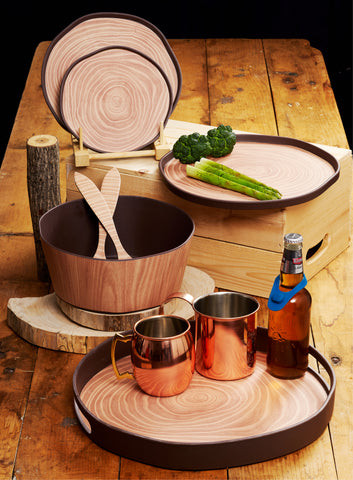 Bark Bamboo Salad Serving Sets, Two Sets