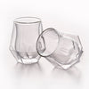 Double Wall Diamond Whisky Glass 6.8 Ounces, Set of 2