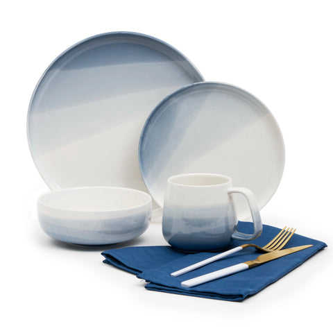Kimono White and Gold Cutlery Set, 20 Pieces - Service for 4
