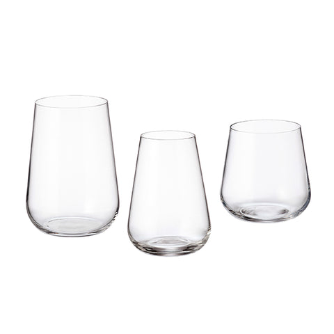 Image of Crystalite Bohemia - Amundsen/Ardea Stemless Drinking Glasses 10 Ounces (300ml) Set of 6
