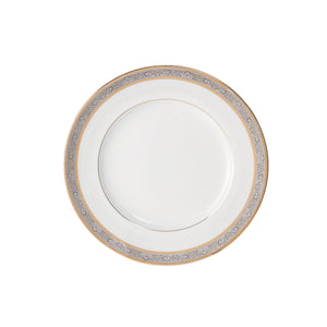 "Brilliant - Royal D'oree Bread and Butter Plate 6.3"" Set of 6 (White with Gold and Platinum Rim)"