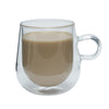 Brilliant - Double Wall Loop Glass Coffee Cup 9.3 oz. Set of 2