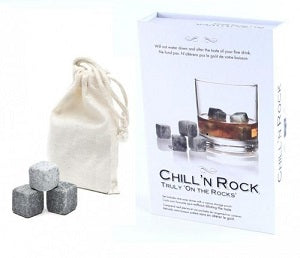 "Chill 'N Rock"" Set Of 9 Whiskey Stones"