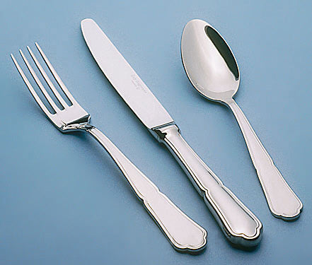Image of Guy Degrenne - Contour 5 Piece Flatware Set, Stainless Steel Mirror Finish Cutlery