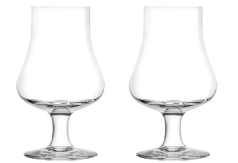 Image of Glendale - Tasting and Nosing Whisky Glass on a Short Stem, 6.5oz. Set of 2 in Individual Gift Boxes