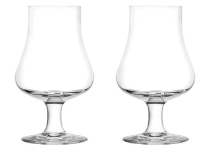 Glendale - Tasting and Nosing Whisky Glass on a Short Stem, 6.5oz. Set of 2 in Individual Gift Boxes