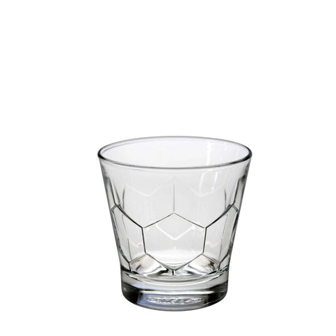 Image of Duralex Hexagon Tumbler 7 Ounces, Set of 6 Clear Drinking Glasses