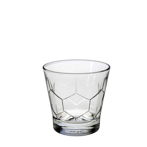 Duralex Hexagon Tumbler 7 Ounces, Set of 6 Clear Drinking Glasses