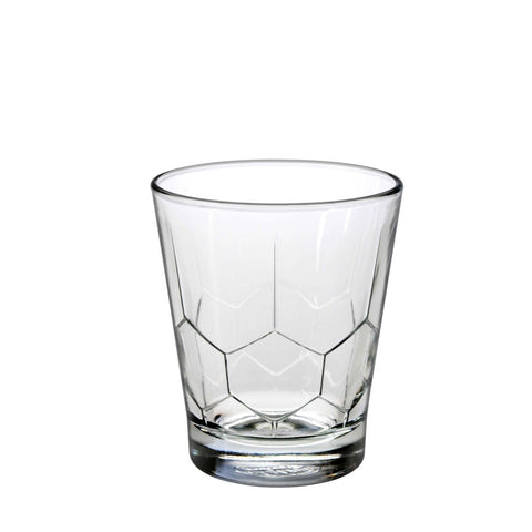 Image of Duralex Hexagon Tumbler 10 Ounces, Set of 6 Clear Drinking Glasses