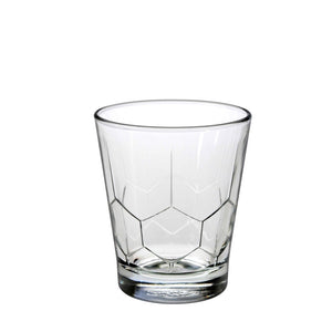 Duralex Hexagon Tumbler 10 Ounces, Set of 6 Clear Drinking Glasses