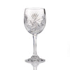 Pinwheel Crystal Cut White Wine Glasses, 5.5 Ounces, Set of 4