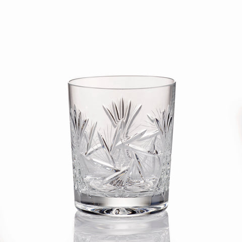 Image of Pinwheel Crystal Old Fashioned Whiskey Glasses Set of 4