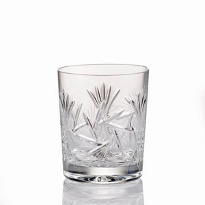 Pinwheel Crystal Old Fashioned Whiskey Glasses Set of 4
