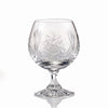 Pinwheel Crystal Brandy Snifter Glasses, 8.5 Ounces, Set of 4