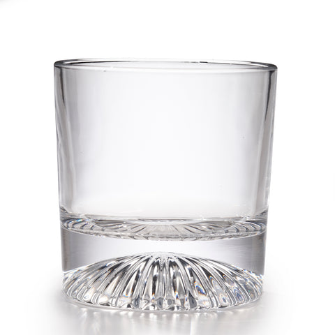 Globe On The Rocks Pyramide Mountain Whiskey Glasses with a Heavy Base, Set of 4, 8.8 Ounces