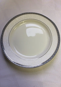 "Brilliant - Imperial Platine Bread and Butter Plate 6"" Set of 6 (White with Silver Rim)"