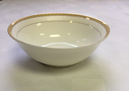 "Brilliant - Imperial Gold Salad Bowl 9"" (White with Gold Rim)"