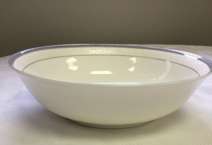 "Brilliant - Imperial Platine Nappy Bowl 5.5"", Set of 6 (White with Silver Rim)"