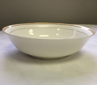 "Brilliant - Imperial Gold Nappy Bowl 5.5"", Set of 6 (White with Gold Rim)"