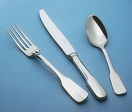 Image of Guy Degrenne - Lutece 5 Piece Flatware Set, Stainless Steel Mirror Finish Cutlery