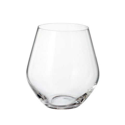 Crystalite Bohemia - Michelle Grus Lead Free Crystal Double Old Fashioned Glass Tumbler, 17 oz. Set of 6