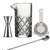 Manhattan Mixology Cocktail Mixing Set, 4 Piece Cocktail Set