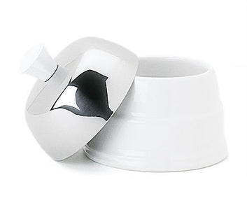 Salam White Covered Sugar Bowl by Guy Degrenne