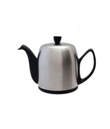 Salam Matte Black 6 Cup Tea Pot by Guy Degrenne