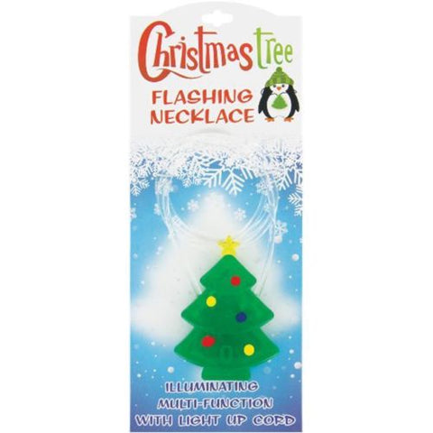 Image of Flashing Christmas Tree Light Up Necklace, Set of 2