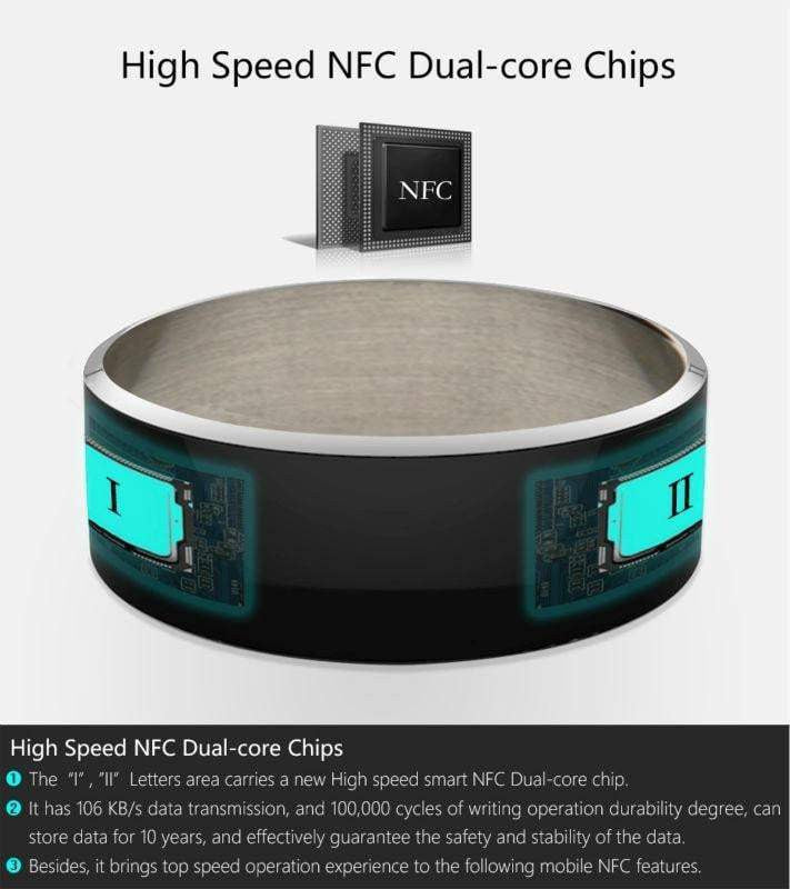 2019 New Smart Ring New technology For Android , Windows NFC Mobile Phone