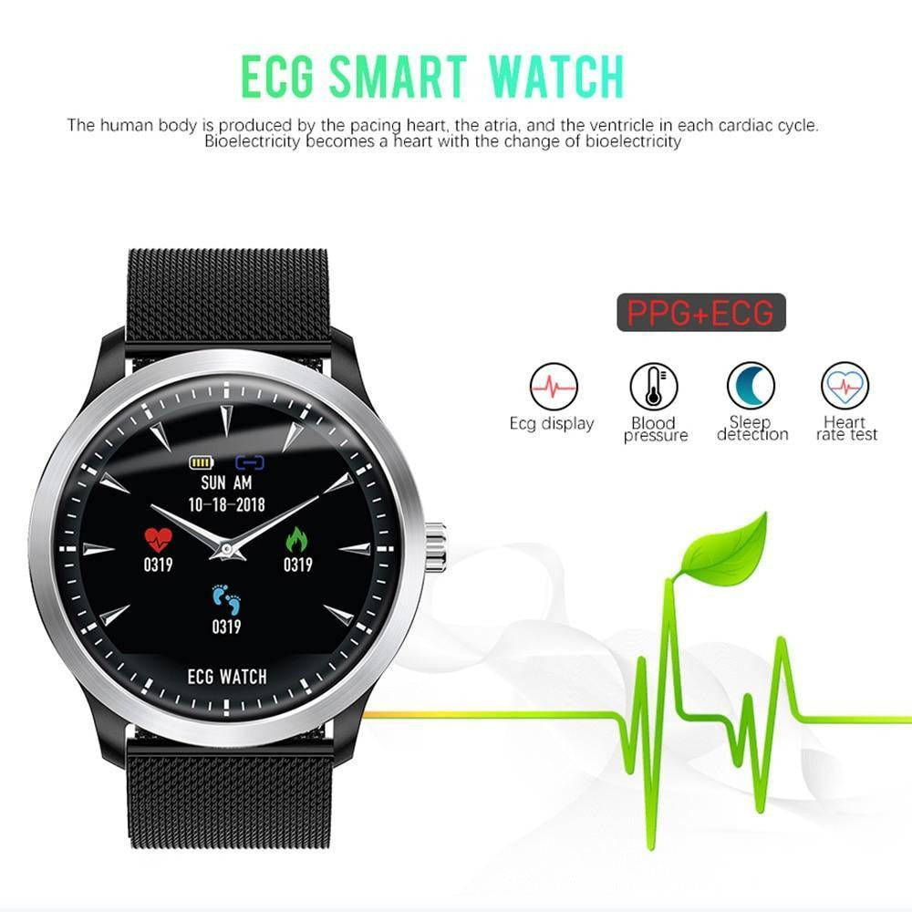 LEMFO 2019 New ECG + PPG Smart Watch Men IP67 Waterproof Sport Watch Heart Rate Monitor Blood Pressure Smartwatch For The Aged - Worldwide Shipper