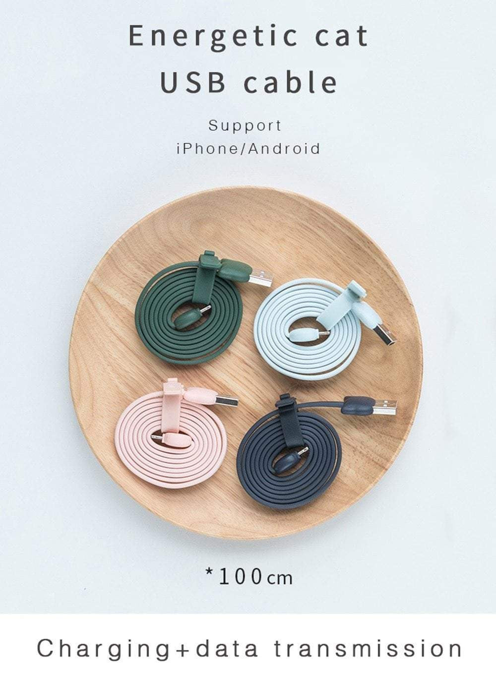 LEMFO Gentle Cat Micro USB Cable For iPhone XS MAX XR Charger USB Data Cable for iPhone X 8 7 6 6s Plus Charging Cord Adapter - Worldwide Shipper