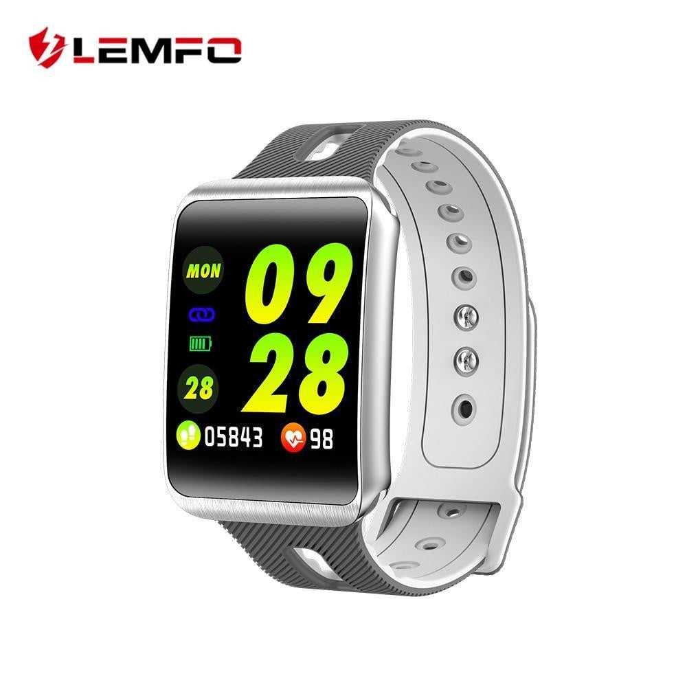 LEMFO GT98 Curved Screen Smart Watch Men Heart Rate Monitor 15 Day Standby Fitness Bracelet Activity Tracker Replaceable Strap - Worldwide Shipper