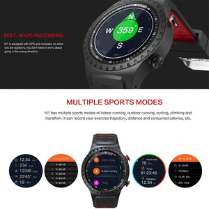 LEMFO M1 Smart Watch Support SIM & Bluetooth Phone Call GPS Smartwatch Phone Men Women IP67 Waterproof Heart Rate Monitor Clock - Worldwide Shipper