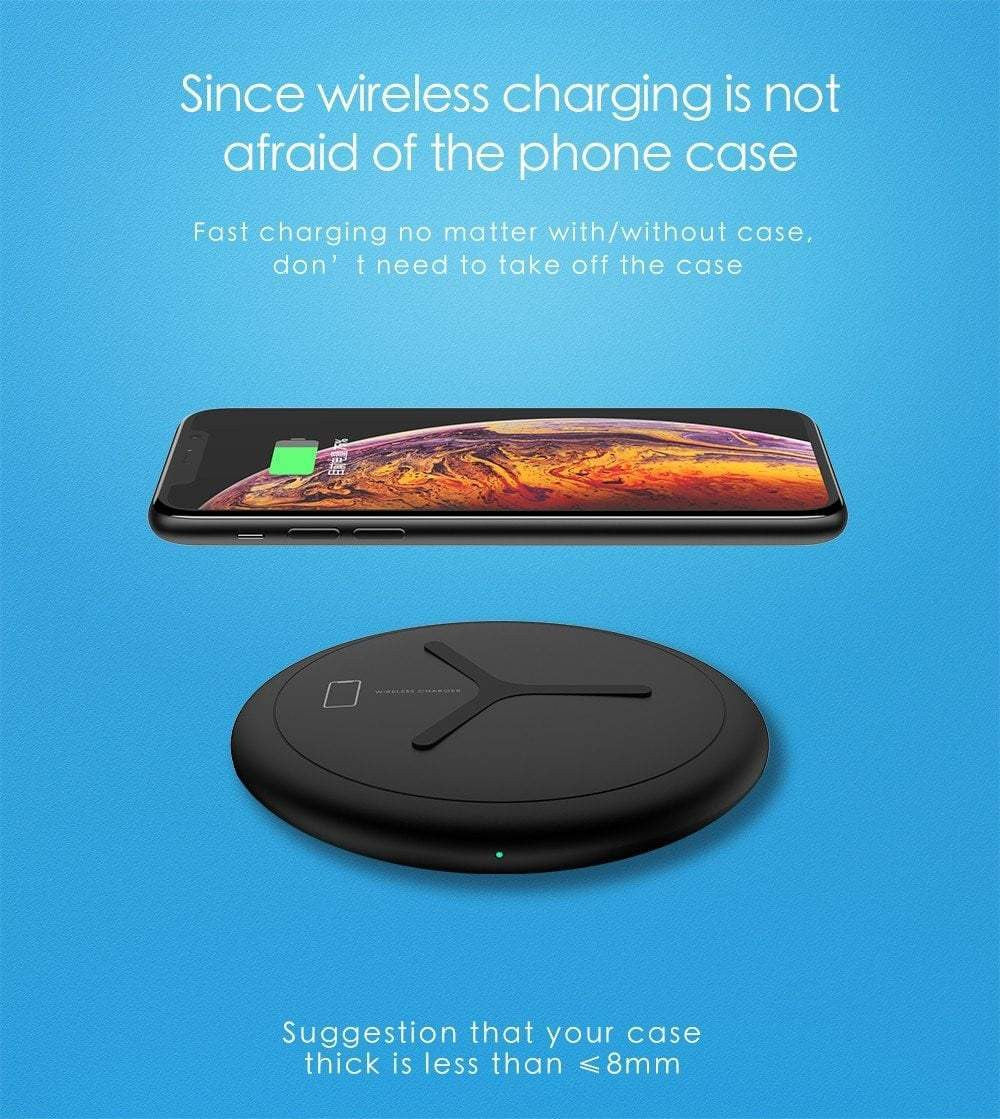 LEMFO NT7 10W 2in1 Qi Wireless Charger For iPhone XS Max XR X Samsung Fast Wireless Charging Apple Watch 4 3 2 Desktop Charger - Worldwide Shipper