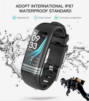 LEMFO Smart Fitness Bracelet Color Screen IP67 Waterproof Heart Rate Blood Pressure Oxygen Multi Sport Mode Band For Men Women - Worldwide Shipper