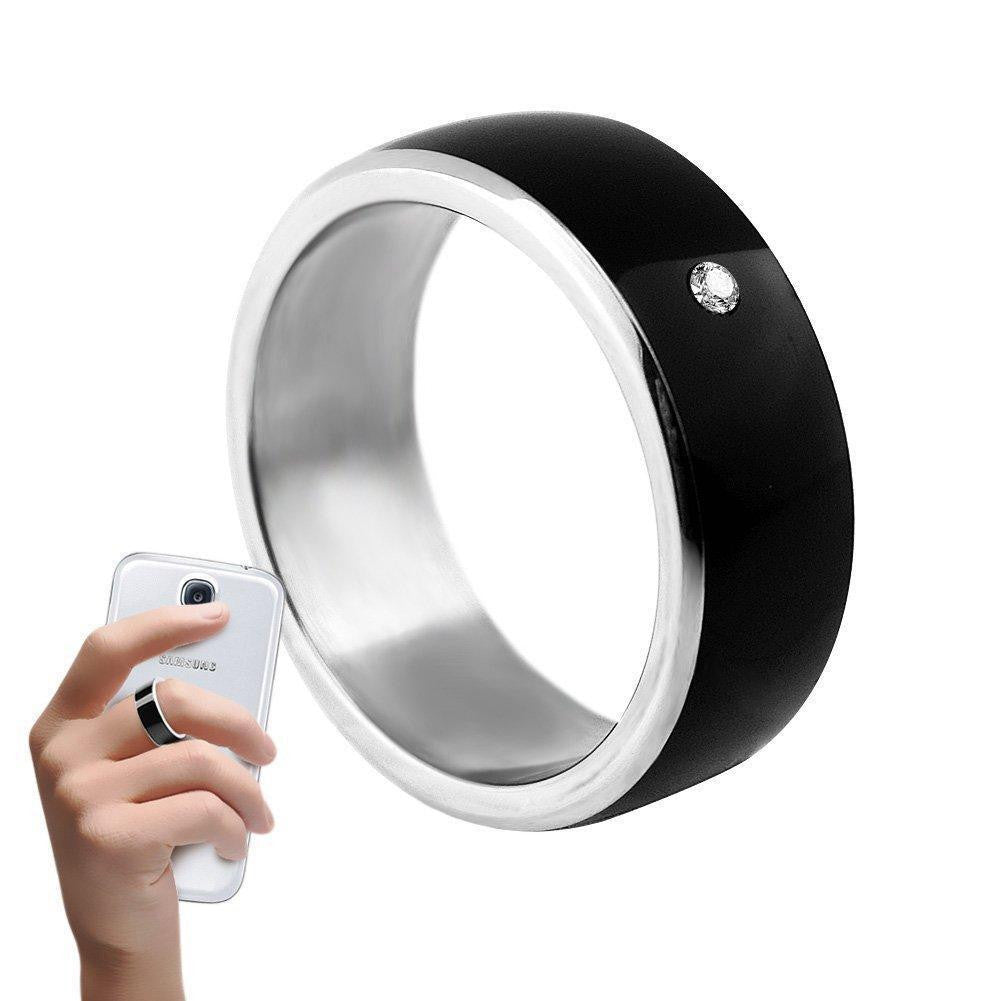 Newest Magic Smart Ring Universal for All Android Windows NFC Cellphone Mobile Phones Black Ring - Worldwide Shipper