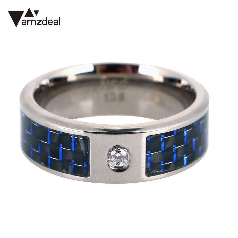NFC Ring Finger Blue Fashion Wearable NFC Smart Ring Waterproof Cell Phone NFC Ring for Samsung Android Creative Carbon Fiber - Worldwide Shipper