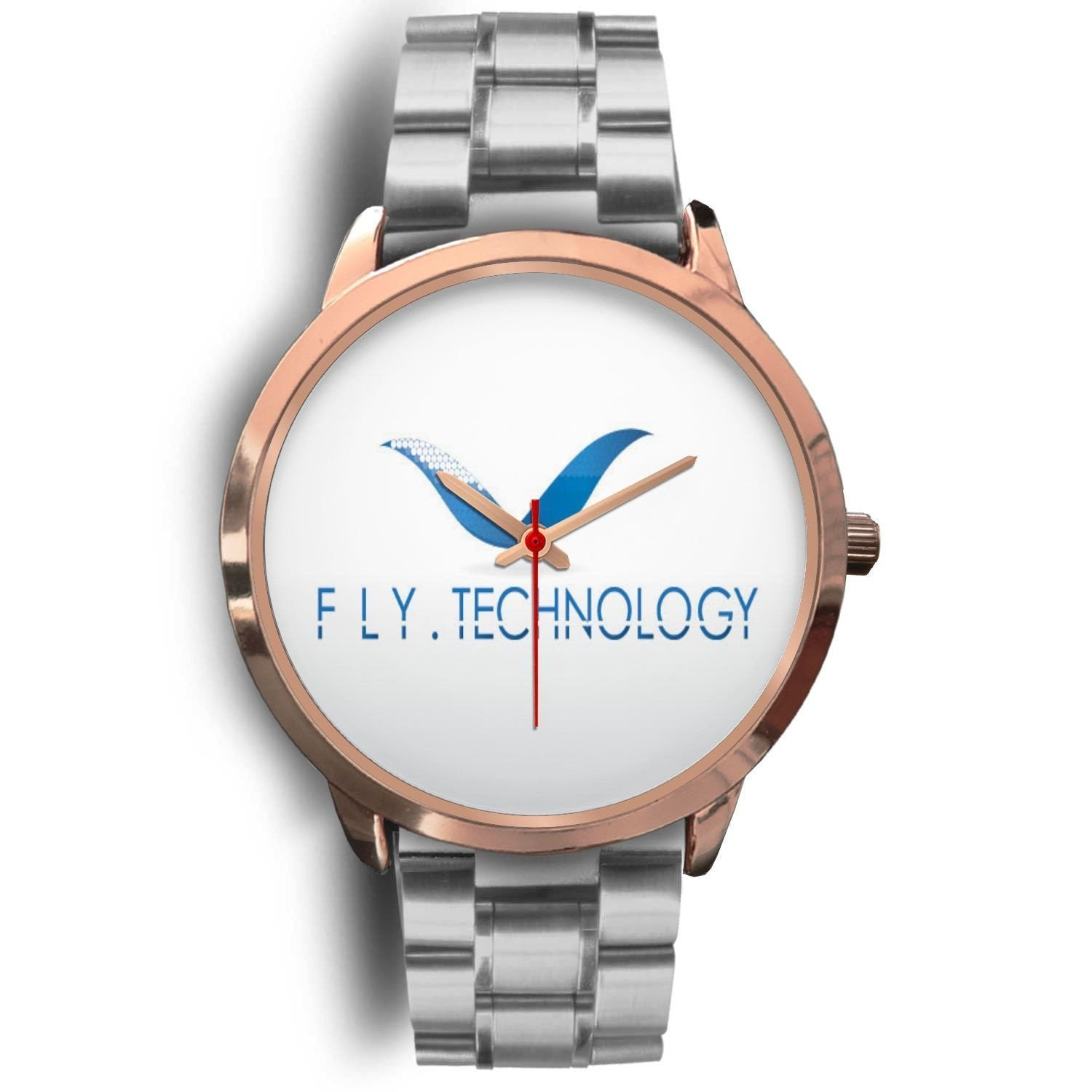 Tech Lover's Unique Rose Gold watch - Worldwide Shipper