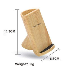Wood Grain Wireless Charging Pen Container - Worldwide Shipper