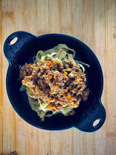 Braised Cabbage Bolognaise