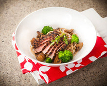 Load image into Gallery viewer, Grilled Steak with Alfredo Pasta